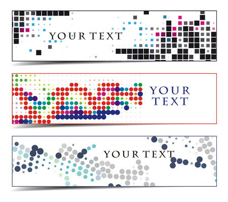 Abstract header on different themes, multi-colored,  illustration. Stock Vector - 8113676