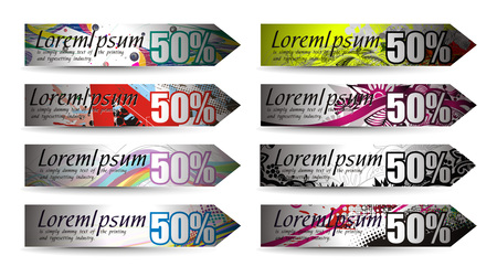 Abstract discount banners on different themes, multi-colored,   illustration. Stock Vector - 8113156
