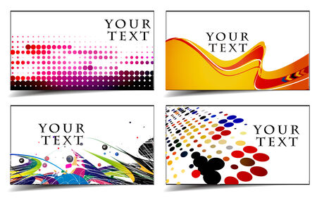 set of templates for business & gift cards. Elements for design.  Vector