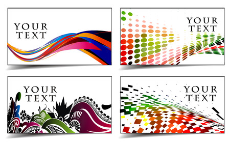colorful design: set of templates for business  & gift cards. Elements for design.
