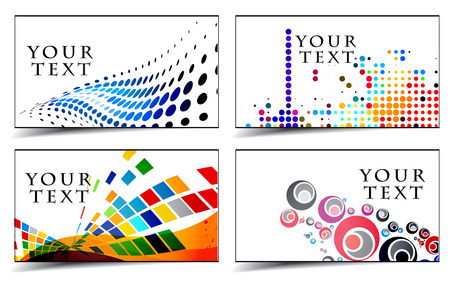 visiting: set of templates for business and gift cards. Elements for design.