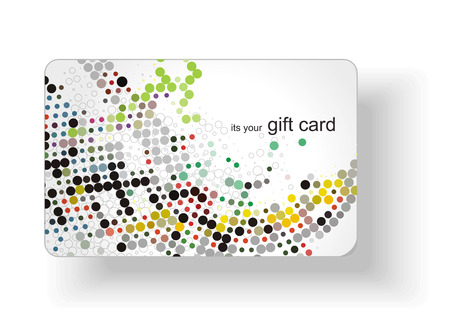 Beautiful gift card design,   illustration. Stock Vector - 8113706