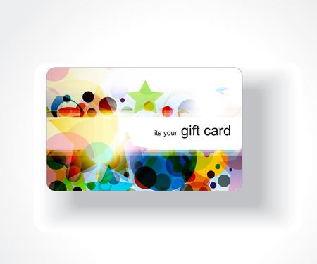 service card: Beautiful gift card design,   illustration.  Illustration