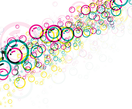 the great lakes: Colorful bubbles background, illustration