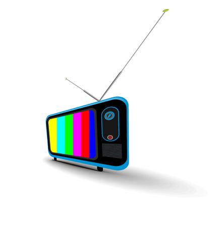 Retro television icon, illustration. Stock Vector - 8113259