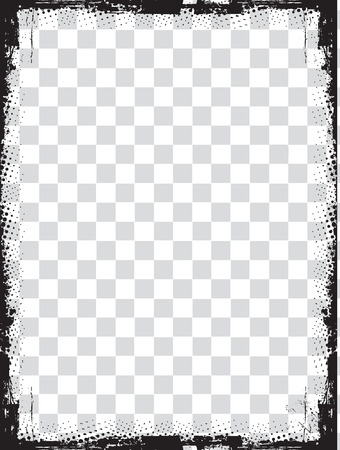 abstract grunge border design element