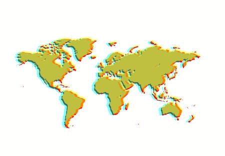 south east asia: mondo Mappa design, illustrazione.