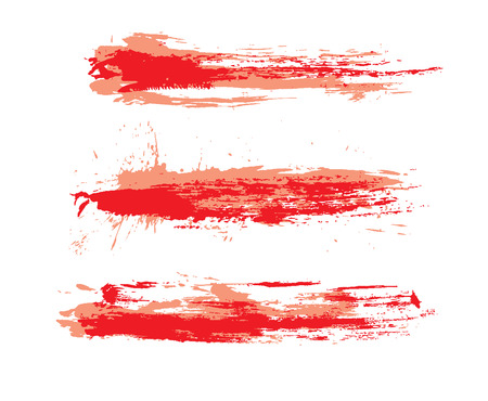 abstract grunge brushes used in your project. illustration