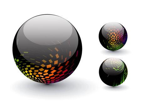 3D colorful sphere design,   illustration.  Stock Vector - 8113804