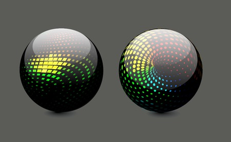 3D colorful sphere design, illustration.  Vector
