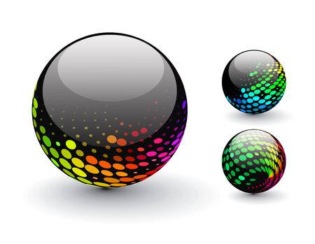3D colorful sphere design, illustration. Stock Vector - 8113746