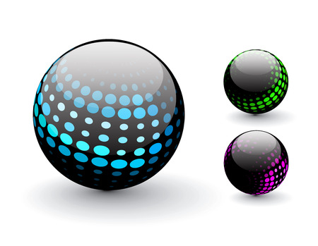 3D colorful sphere design,   illustration. Stock Vector - 8113667