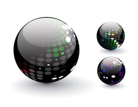 3D colorful sphere design,   illustration. Stock Vector - 8113133