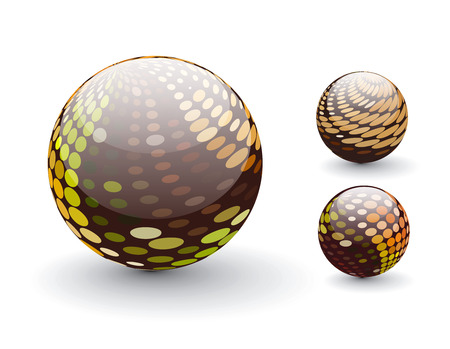 3D colorful sphere design,   illustration.  Stock Vector - 8113694