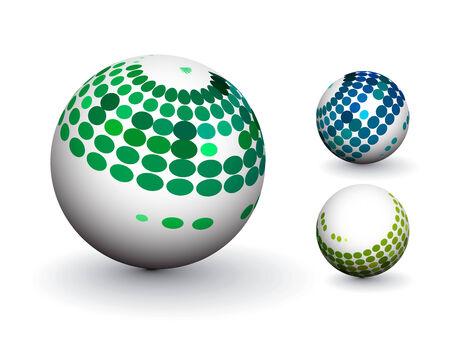 3D colorful sphere design, illustration. Stock Vector - 8113727