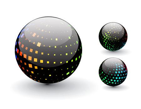 3D colorful sphere design,   illustration.  Stock Vector - 8113690