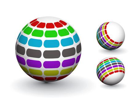 3D colorful sphere design,   illustration. Stock Vector - 8113566