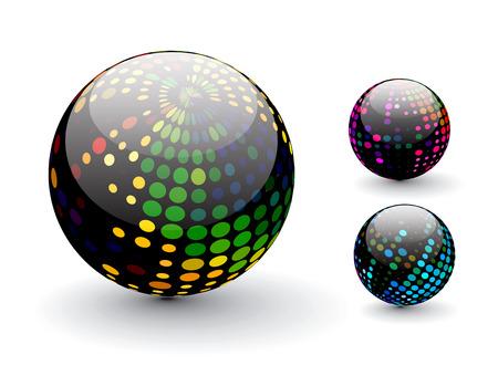 3D colorful sphere design illustration. Stock Vector - 8113563