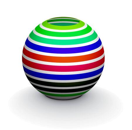 3D colorful sphere design,  illustration. Stock Vector - 8113515