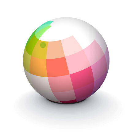 atoms: 3D colorful sphere design,   illustration.