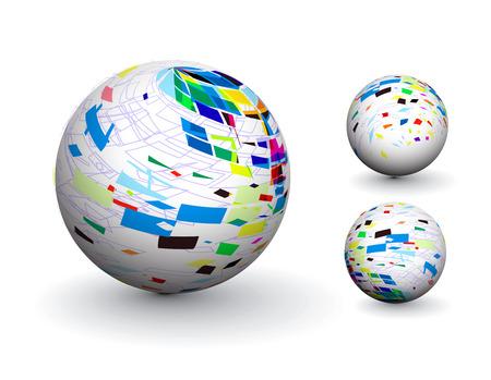 3D colorful sphere design,  illustration.  Stock Vector - 8113689