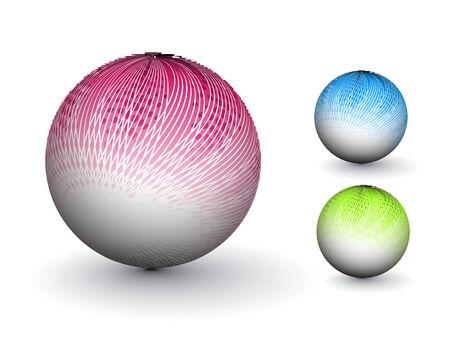 3D colorful sphere design,  illustration.  Stock Vector - 8113127