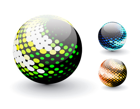 3D colorful sphere design, illustration. Stock Vector - 8113638