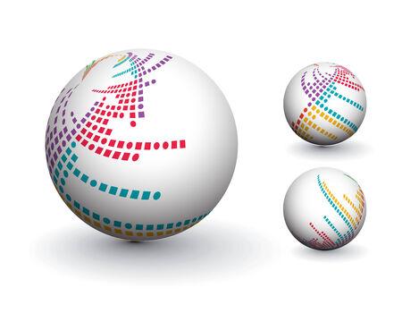 3D colorful sphere design,   illustration. Stock Vector - 8113787