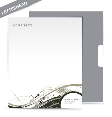 white headed: Business style templates,  illustration