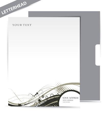 papier en t�te: Mod�les de style Business, illustration