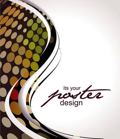 Abstract background with colorful design for text project used illustration.  Vector