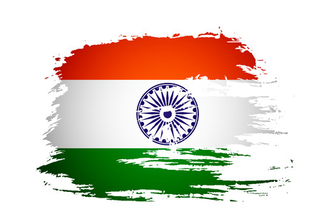 India flag with Event Original,  illustration  Vector