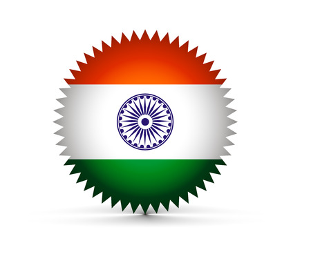 India flag tag with Event Original, illustration  Vector