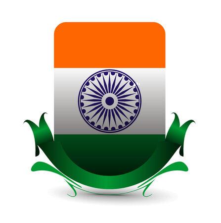 politic: India flag with Event Original,  illustration  Illustration