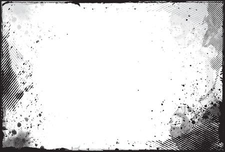 elemento de diseño de frontera de grunge abstracta   Foto de archivo - 8173205