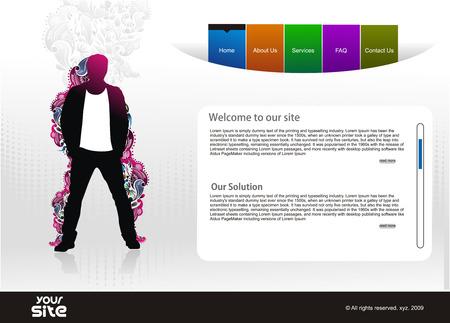 web site design: abstract web site design template,  illustration.  Illustration