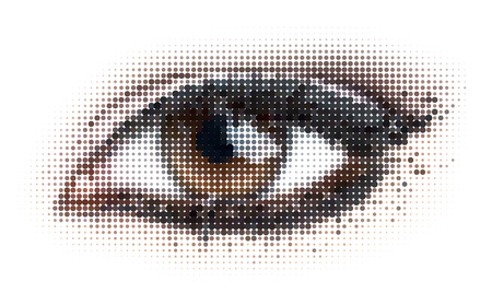 eyeball: human dots eye. illustration.