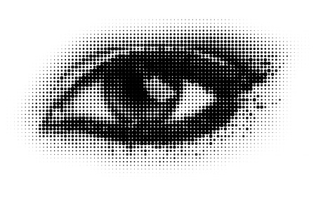 human dots eye.   illustration. Vector