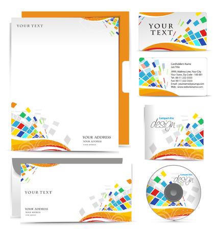 papier en t�te: Business mod�les de style pour la conception de votre projet, illustration.