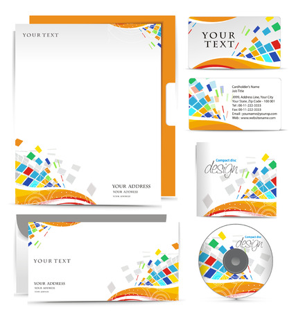 headed: Modelli di stile di business per il tuo progetto di design, illustrazione.