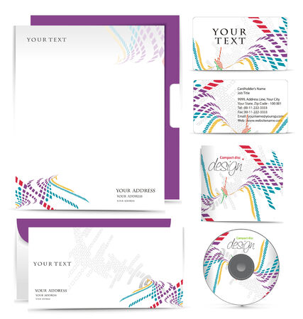 name card: Business style templates for your project design,  illustration. Illustration