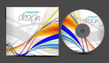 dvd:  CD Cover Entwurfsvorlage mit Textfreiraum, illustration  Illustration