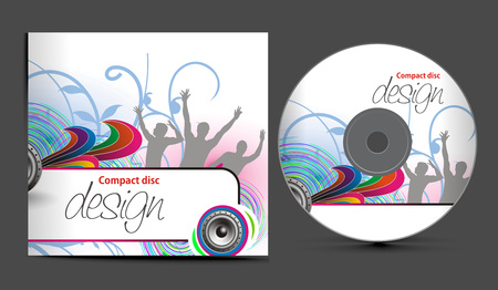 cd cover design template with copy space, illustration Stock Vector - 8173186