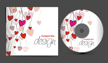 compact disk:  cd cover design template with copy space, illustration  Illustration