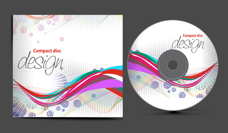scheibe:  CD Cover Design Template with Copy Space, illustration  Illustration