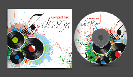 compact disc:  cd cover design template with copy space,   illustration  Illustration
