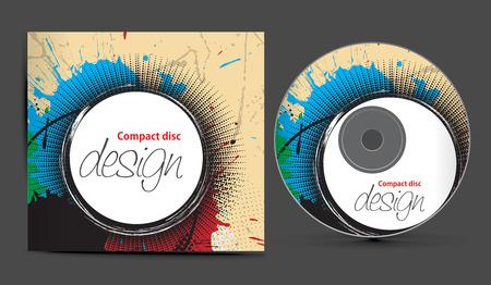 scheibe:  CD-Cover-Design-Vorlage mit Kopie, Raum, Abbildung  Illustration