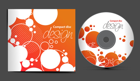 cd cover design template with copy space,  illustration Stock Vector - 8173103