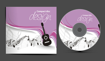 cd:  cd cover design template with copy space illustration  Illustration