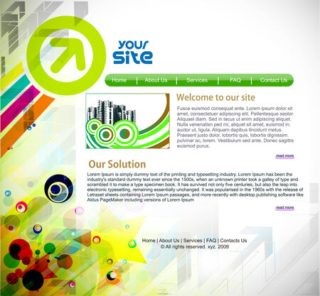 web site design: abstract business web site design template, illustration.